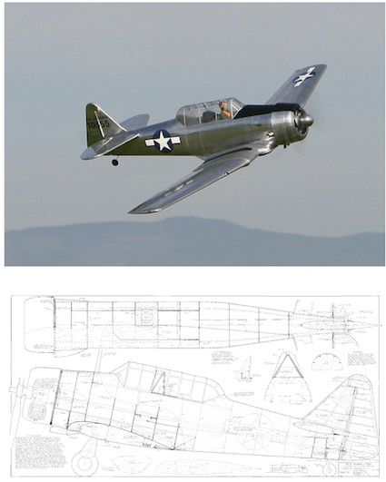 AT-6 Texan PLAN for Ziroli