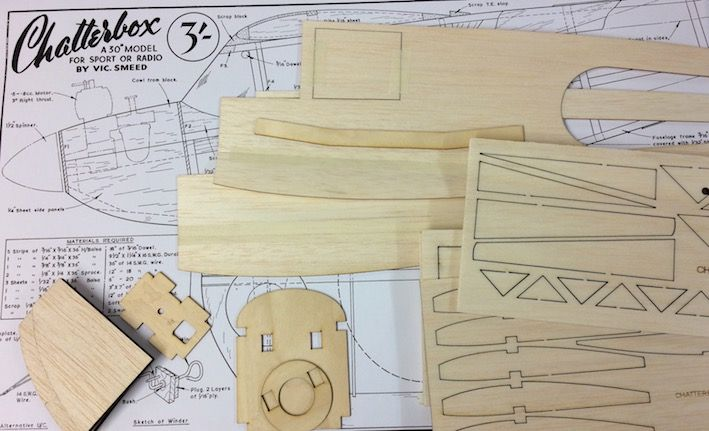 Chatterbox Parts Set and Plan