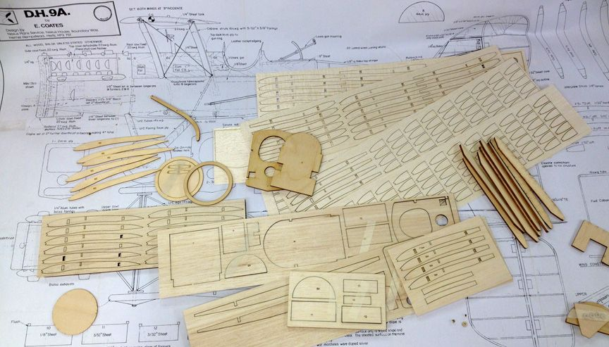 DH-9 Parts Set - Coates Aeromodeller