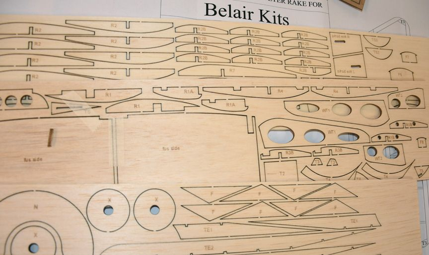 "Nieuport 11 ""Bebe' Parts set and plan"