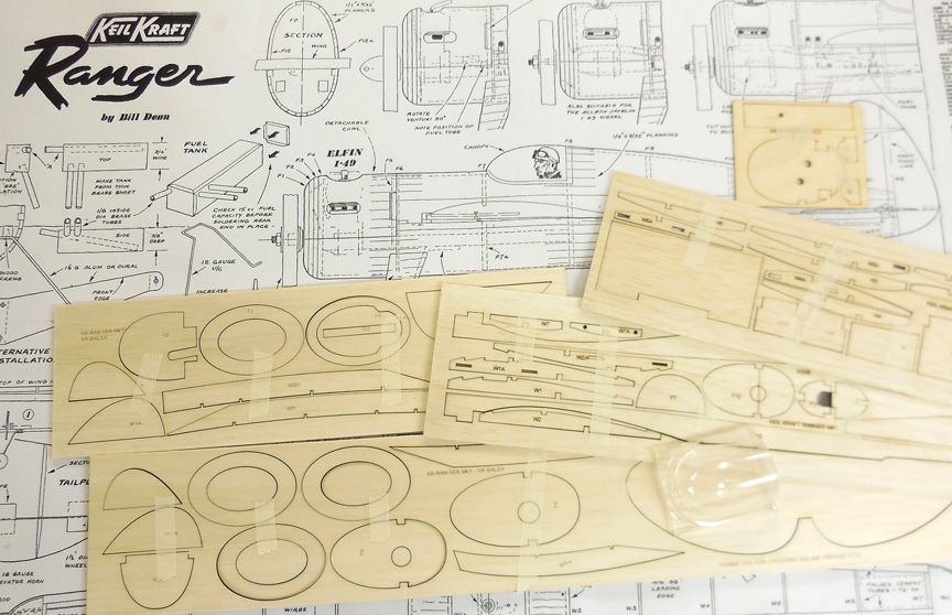 Keil Kraft Ranger Mk1 - Parts Set including Canopy