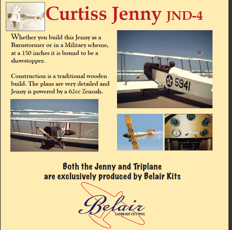 Curtiss Jenny JN-4 1/3 scale - Parts Set