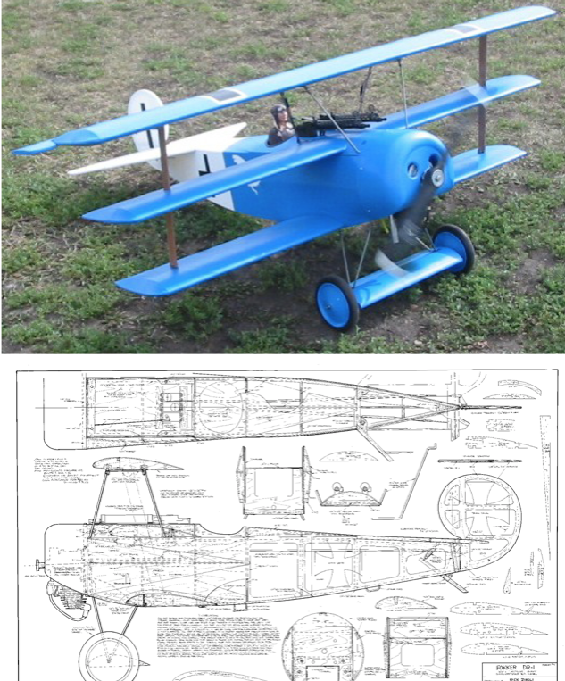 Fokker Dr-1 plans by Ziroli