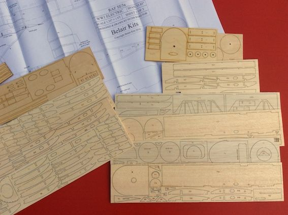 RAF SE5a - Electric Scale Series - Parts Set and plans