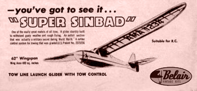 Sinbad glider parts set & plans