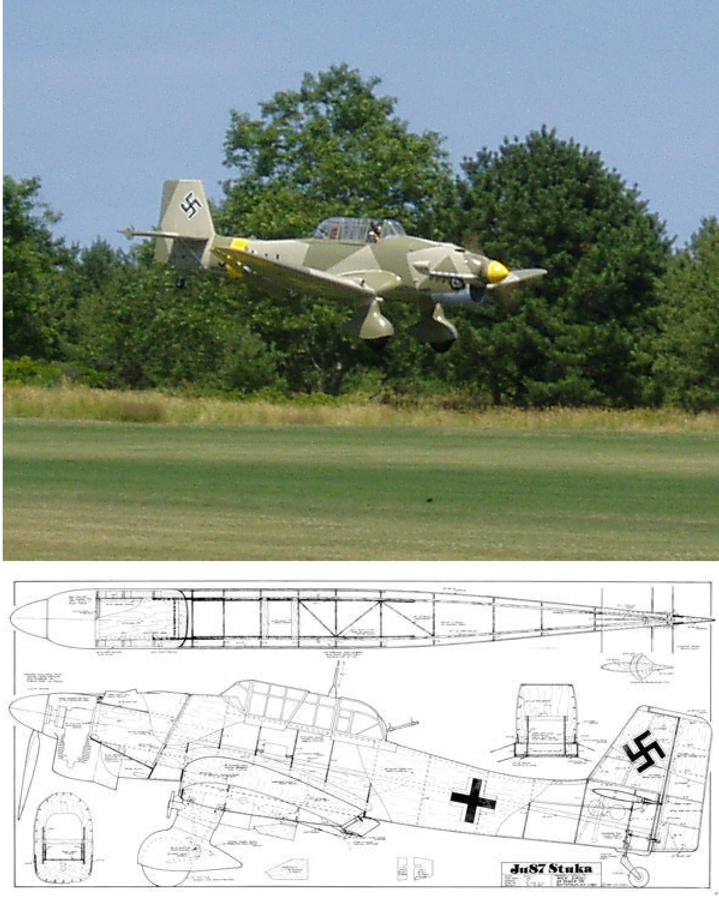 Ju87B Stuka Plan by Ziroli