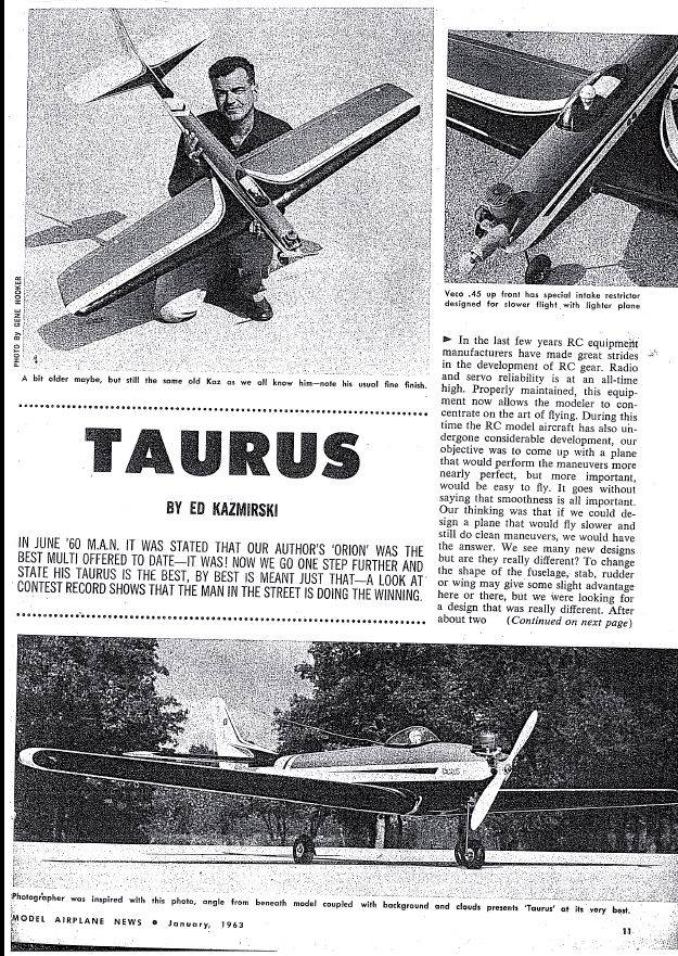 Taurus by Ed Kazmirski - Parts Set and Canopy