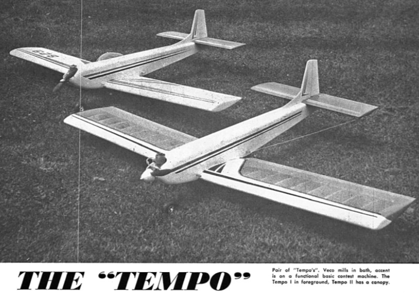 Tempo - Retro RC Aerobatic - parts set and plan